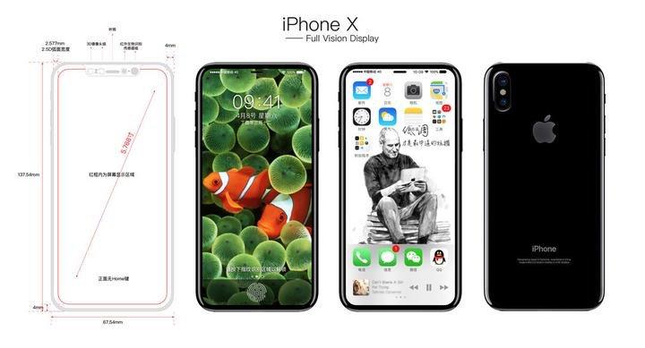 iphone 8 x leak croquis - iPhone 8 (X) : un schéma et des rendus font leur apparition sur Twitter