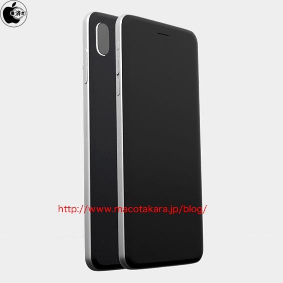 macotakara iphone 8 maquette verre - L'iPhone 8 en verre avec double capteur photo vertical se confirme