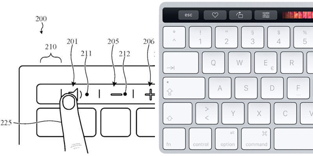 magic keyboard touch bar - Brevet : Apple envisagerait un Magic Keyboard avec Touch Bar