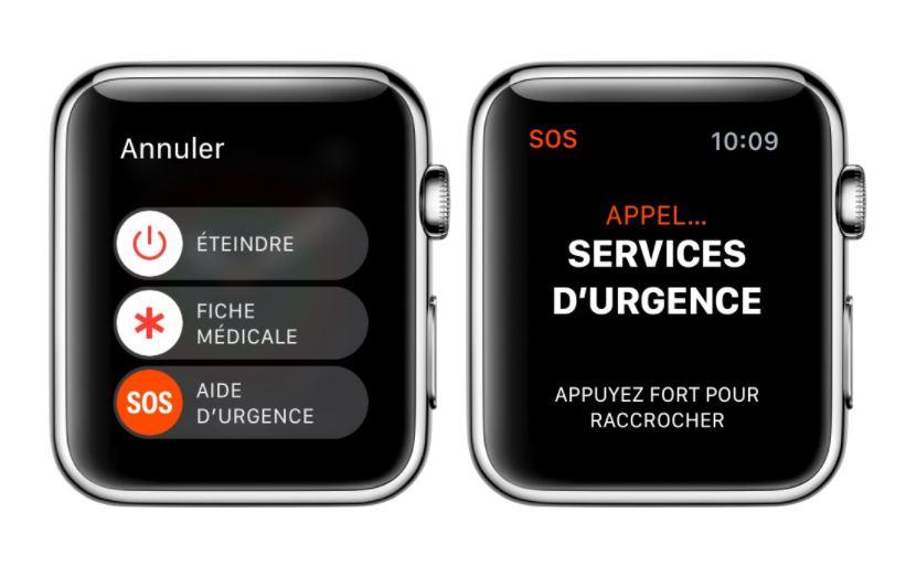 Apple Watch SOS services urgence - L'Apple Watch sauve un étudiant coincé dans sa voiture accidentée