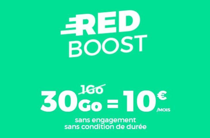 RED by SFR : un forfait 4G 30 Go à 10€/mois à vie !