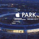 Apple Park : une vidéo du campus prise de nuit par un drone