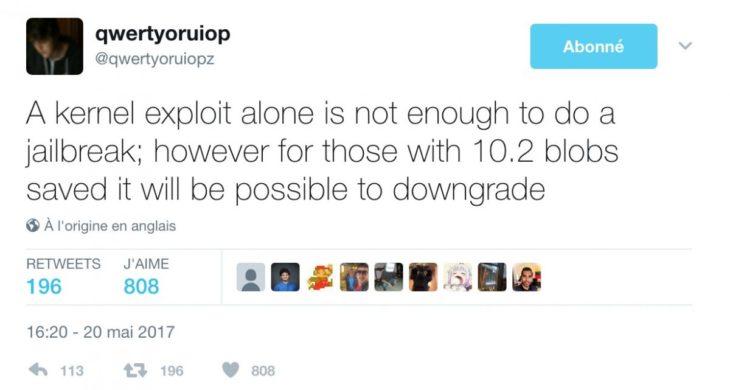 Jailbreak : une faille permet le downgrade d'iOS 10.3.1 vers iOS 10.2