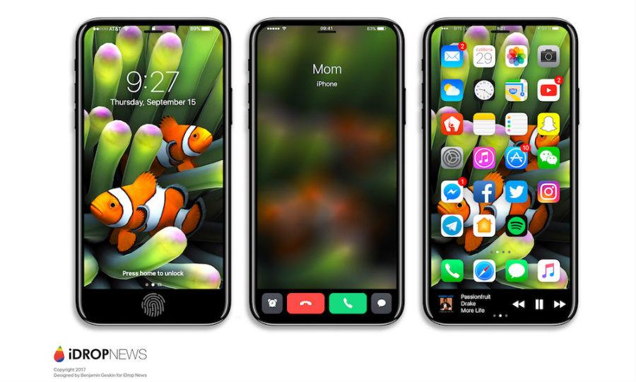 """iPhone 8 Function Area iDrop News Exclusive 1 - iPhone 8 : un concept axé sur la """"zone de fonction"""""""