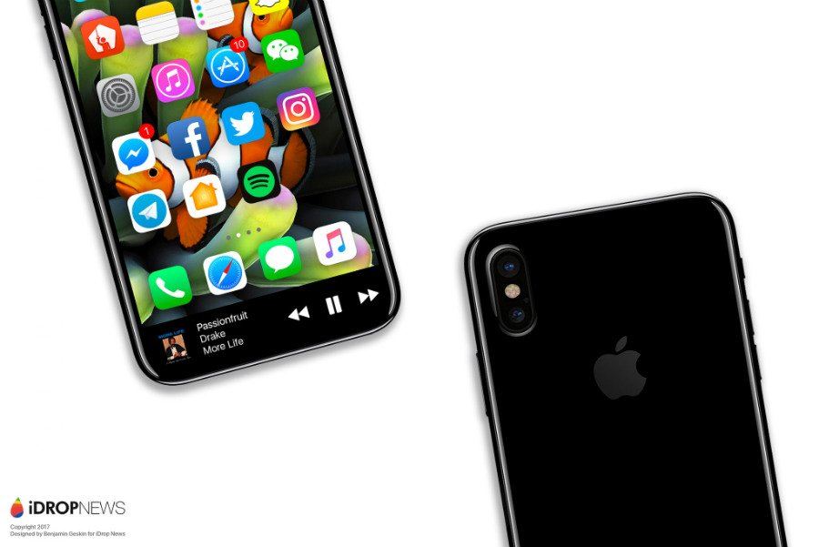 "iPhone 8 Function Area iDrop News Exclusive 5 - iPhone 8 : un concept axé sur la ""zone de fonction"""