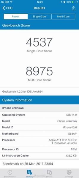iphone 8 faux benchmark - iPhone 8 : le benchmark qui circule sur le Web est (malheureusement) faux
