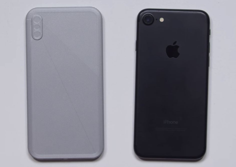 maquette iphone 8 vs iphone 7 - iPhone 8 : une maquette comparée à l'iPhone 7 en vidéo
