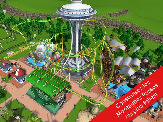 RollerCoaster Tycoon Touch : première mise à jour, quelques nouveautés