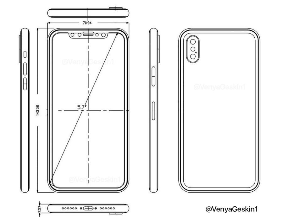schema iphone 8 geskin - iPhone 8 : photos et vidéo d'une maquette et d'un schéma