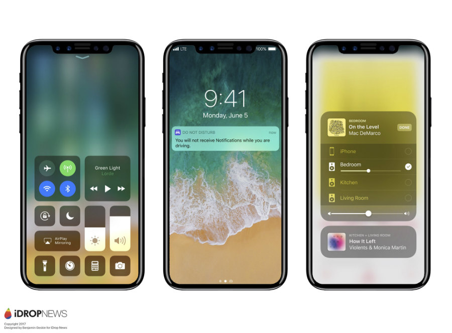 Concept iPhone 8 iOS 11 iDrop News - iPhone 8 : un concept sur lequel tourne iOS 11