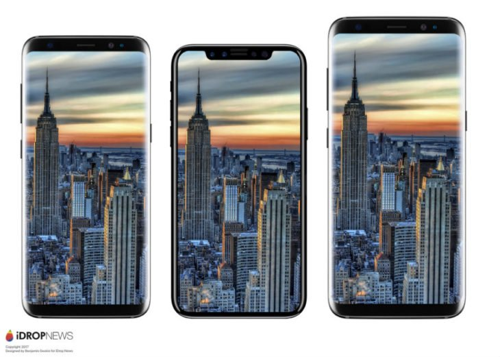 iPhone 8 : une maquette comparée à l'iPhone 7 et au Galaxy S8
