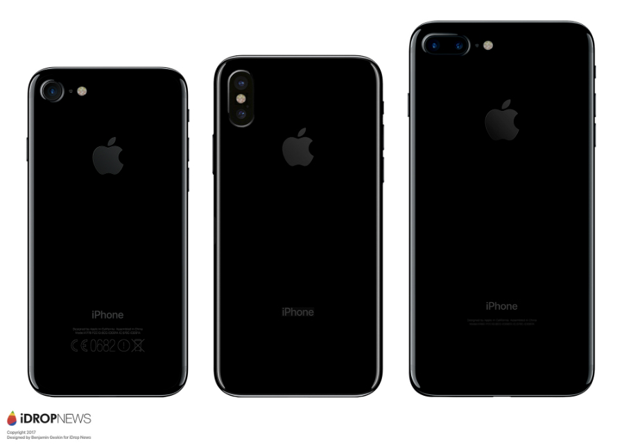Maquette iPhone 8 vs iPhone 7 vs iPhone 7 Plus - iPhone 8 : une maquette comparée à l'iPhone 7 et au Galaxy S8