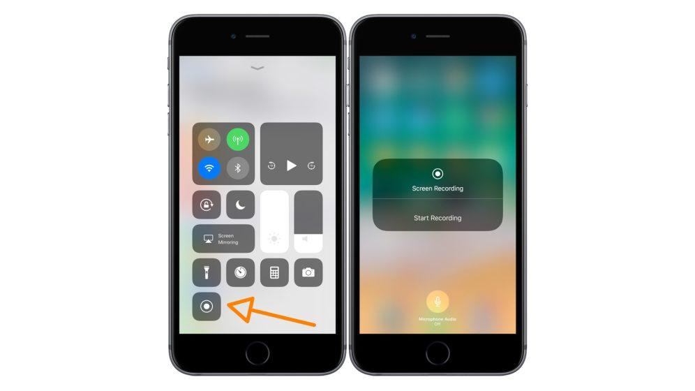 enregistrement ecran ios 11 - iOS 11 propose la capture vidéo de l'écran sur iPhone & iPad !