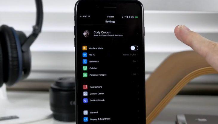 Le mode sombre fait ses débuts sur iOS 11