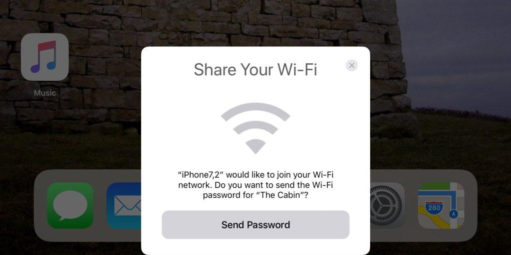 iOS 11 : partage facile des mots de passe Wi-Fi entre iPhone & iPad