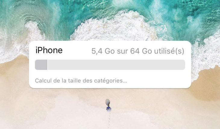 iOS 11 : des options pour libérer de la place sur son iPhone ou iPad