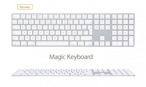 magic keyboard pave numerique - Apple lance un Magic Keyboard avec un pavé numérique