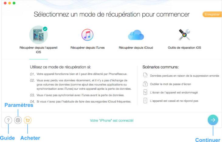 PhoneRescue : récupérer ses données perdues (iPhone, iPad, Android)