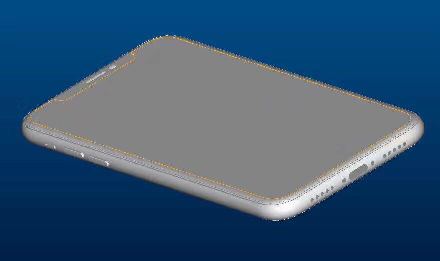 schema iphone 8 geskin - iPhone 8 : maquette avec coque de protection, nouveaux rendus 3D