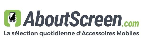 AboutScreen logo - AboutScreen : une sélection quoditienne d'accessoires pour smartphones