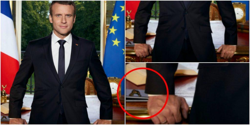Emmanuel Macron deux iphone portrait officiel 1024x512 - Emmanuel Macron place ses deux iPhone dans son portrait officiel