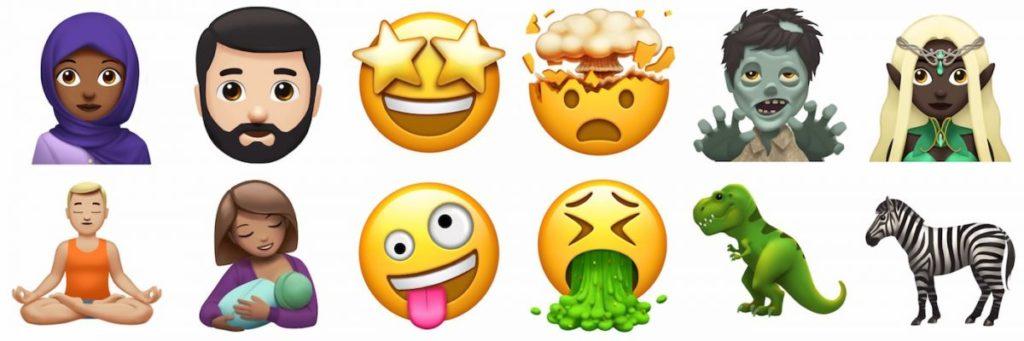 Nouveaux Emoji iOS 11 1024x341 - iOS 11 & macOS High Sierra : 12 nouveaux Emoji dévoilés