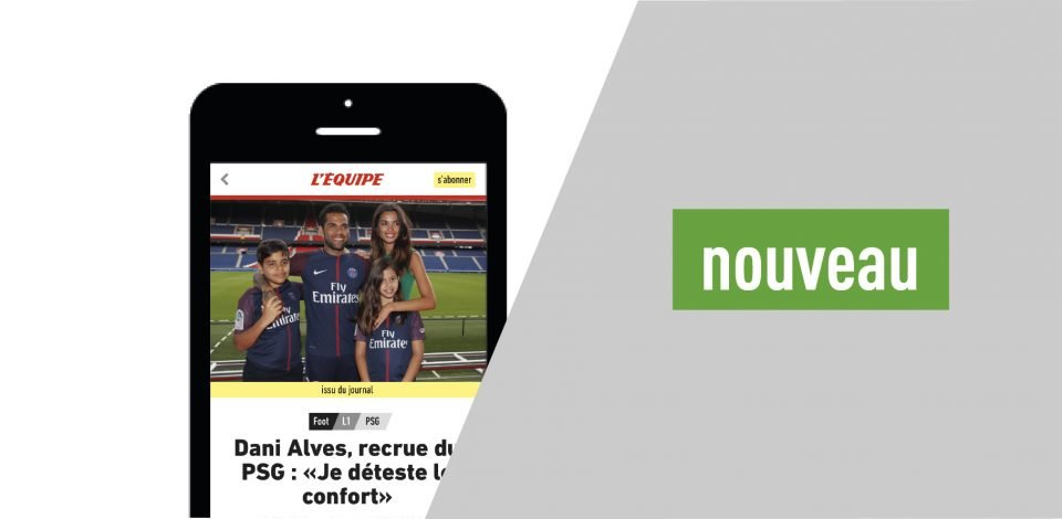 Site Mobile LEquipe - L'Équipe lance son nouveau site mobile