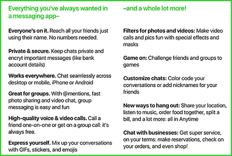 amazon anytime fonctionnalites - Anytime : la future application de messagerie d'Amazon ?