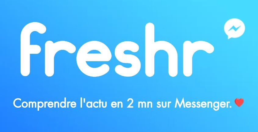 freshr logo chatbot messenger - Tim Cook, Transfer Wise, Snapchat : les brèves high-tech du 3/11