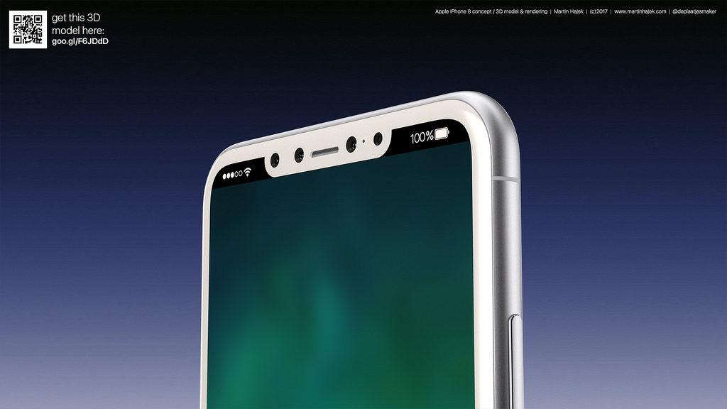 iPhone 8 blanc concept 11 1024x576 - iPhone 8 : le Touch ID intégré dans le bouton d'allumage ?