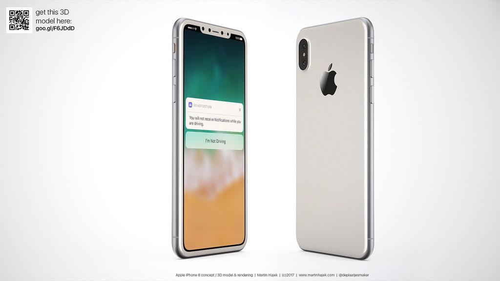 iPhone 8 blanc concept 12 1024x576 - iPhone 8 : la production de test aurait déjà commencé chez Foxconn