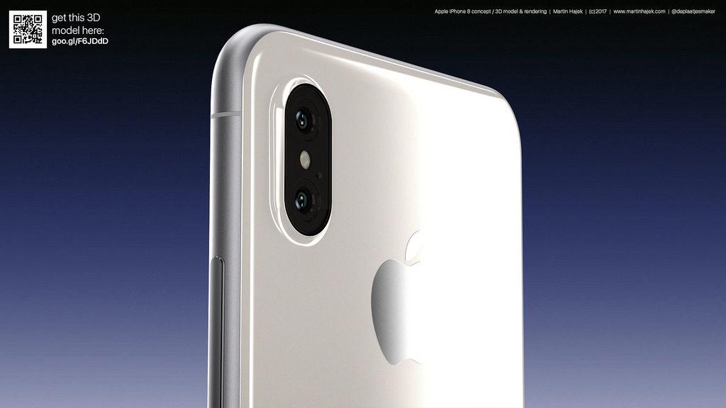iPhone 8 blanc concept 4 1024x576 - iPhone 8 : un laser 3D arrière pour la réalité augmentée ?