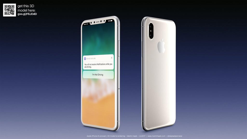 iPhone 8 : de jolis rendus d'un modèle blanc