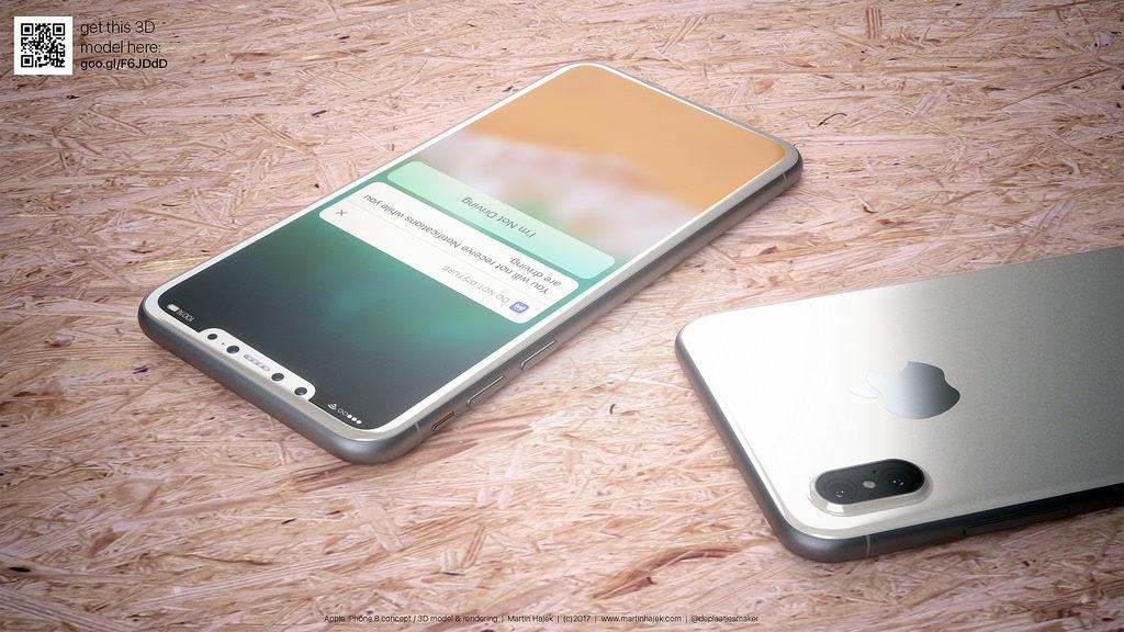 iPhone 8 blanc concept 8 1024x576 - iPhone 8 : un super-cycle de croissance prévu début 2018