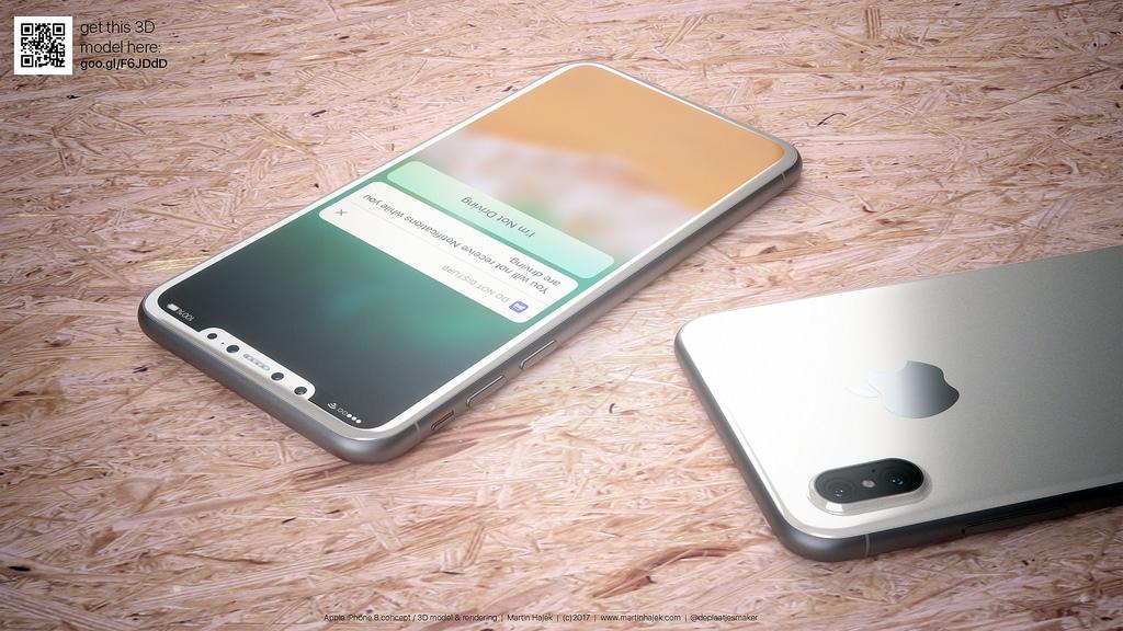 iPhone 8 blanc concept 8 - iPhone 8 : de jolis rendus d'un modèle blanc