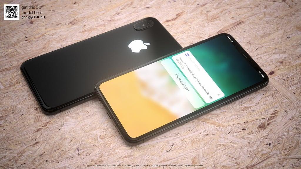 iPhone 8 blanc concept - iPhone 8 : pas de Touch ID, un capteur 3D de reconnaissance faciale ?