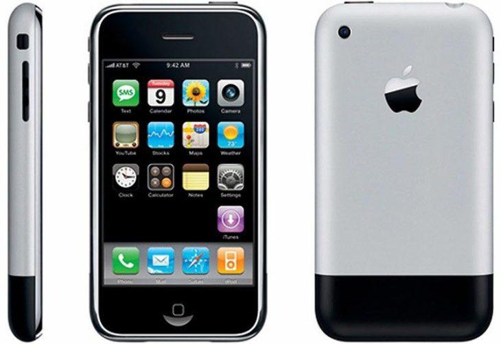 Infographie : les 10 ans de l'iPhone avec les différents modèles