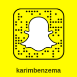 Snapchat Karim Benzema : compte officiel