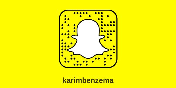 snapchat karim benzema e1510171412190 - Snapchat Karim Benzema : compte officiel