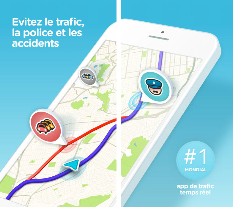 waze ios 10 2017 - GPS : Waze propose d'enregistrer sa voix pour le guidage vocal (iPhone)