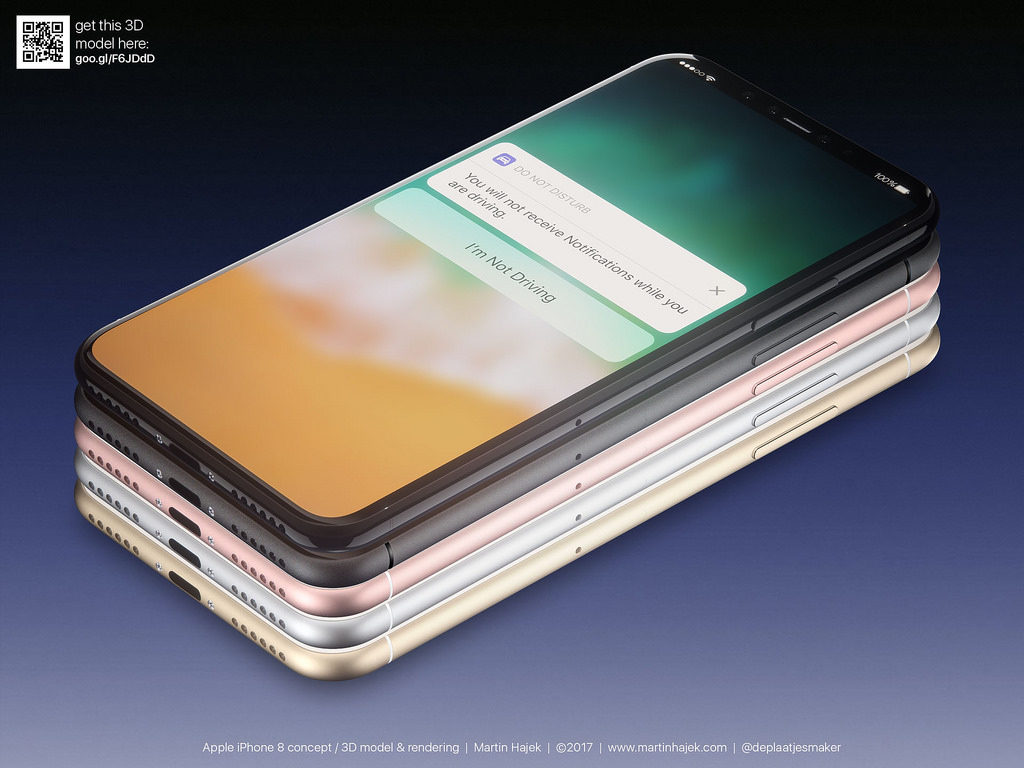 concept martin hajek iphone 5 coloris 3 1024x768 - iPhone 8 : un nouveau concept de Martin Hajek en 5 coloris