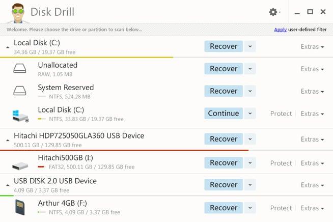 disk drill - Disk Drill : récupération de données sur disque dur externe & interne