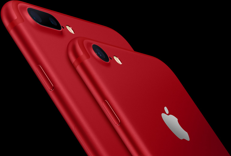 iPhone 7 7 plus product red - L'iPhone 7 reste le smartphone le plus populaire au monde (Q2 2017)