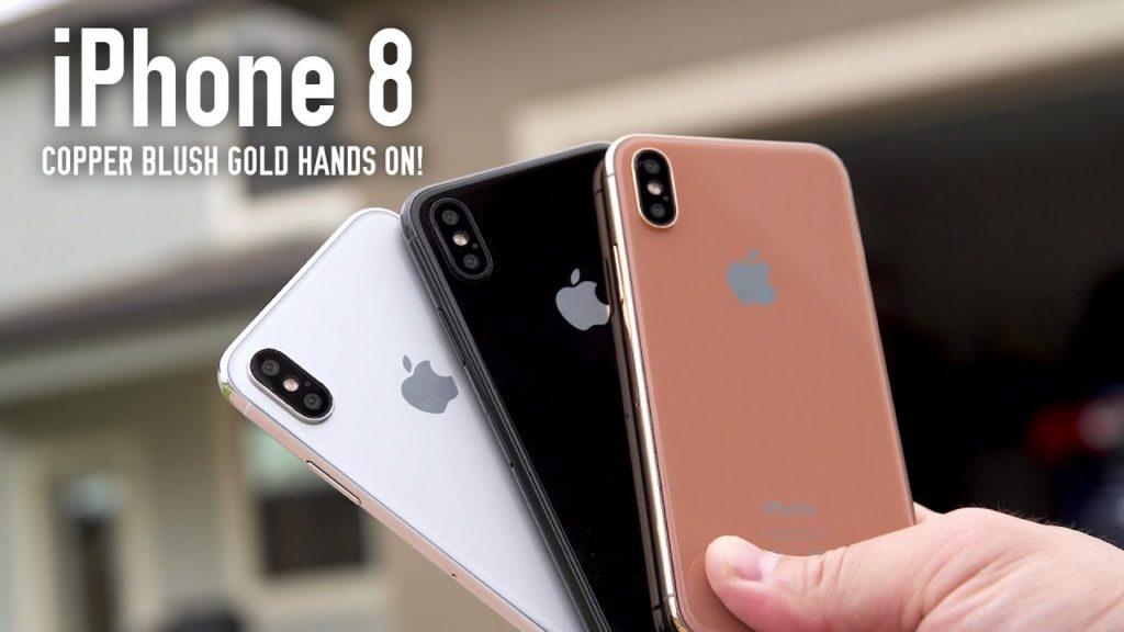 iPhone 8 maquettes Noir Argent Cuivre 1024x576 - iPhone 8 : une vidéo dévoile des maquettes en 3 coloris