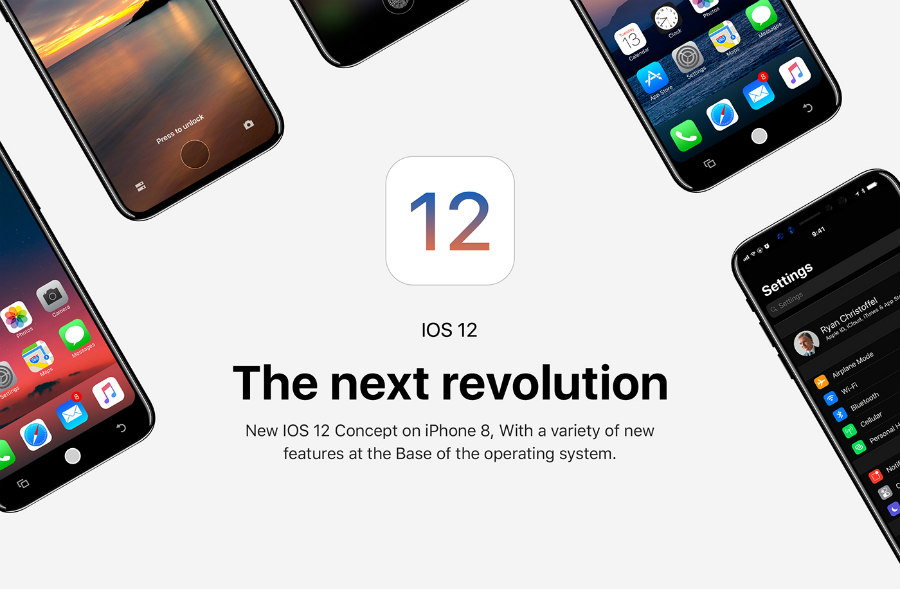 ios 12 concept iphone 8 - Insolite : un concept imagine déjà iOS 12 sur l'iPhone 8