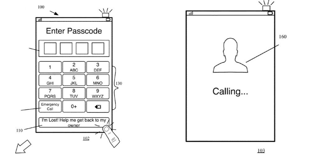 Apple Brevet iPhone Perdu Appel Contact - Brevet : Apple va nous aider à contacter le propriétaire d'un iPhone perdu