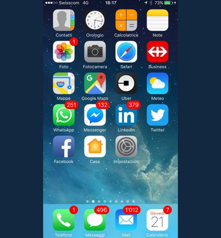 Ignazio Cassis 2000 notifications iphone - Cette capture d'écran d'iPhone va terroriser les phobiques des notifications