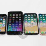 iPhone X : l'écran d'accueil comparé à ceux des précédents modèles