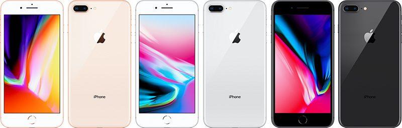 iphone 8 plus 4 coloris - iPhone 8 & 8 Plus : des problèmes de grésillements pendant les appels