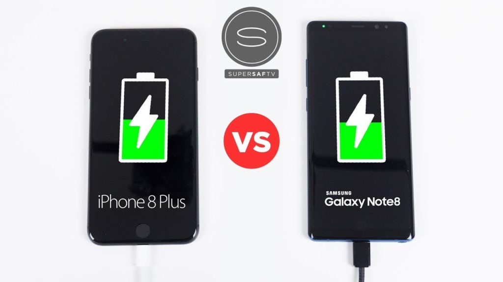 iphone 8 plus vs galaxy note 8 recharge rapide 1024x576 - iPhone 8 Plus vs Galaxy Note 8 : lequel se recharge le plus vite ?
